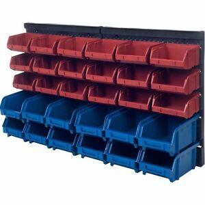 Garage Storage Bins Rack 30 Large Plastic Tools Box ...