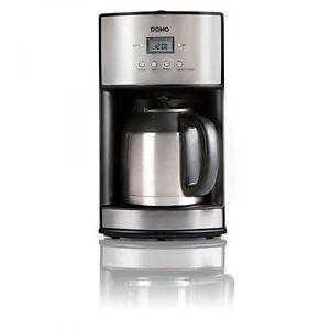 domo do474k filterkaffeemaschine mit thermoskanne edelstahl 5411397014023 ebay. Black Bedroom Furniture Sets. Home Design Ideas