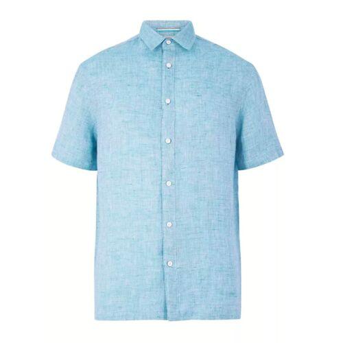 Men/'s Shirts Blue Harbour Pure Linen Relaxed Fit Shirt Top Shirt Men/'s Clothing