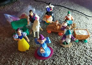Vintage-1992-McDonald-039-s-Snow-White-Happy-Meal-Toys-Complete-Set-of-8