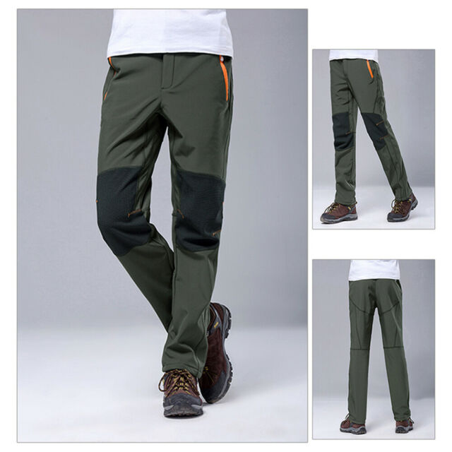 Winter Ski Pants Men Outdoor Waterproof Windproof Long Pant Warm Padded Trousers