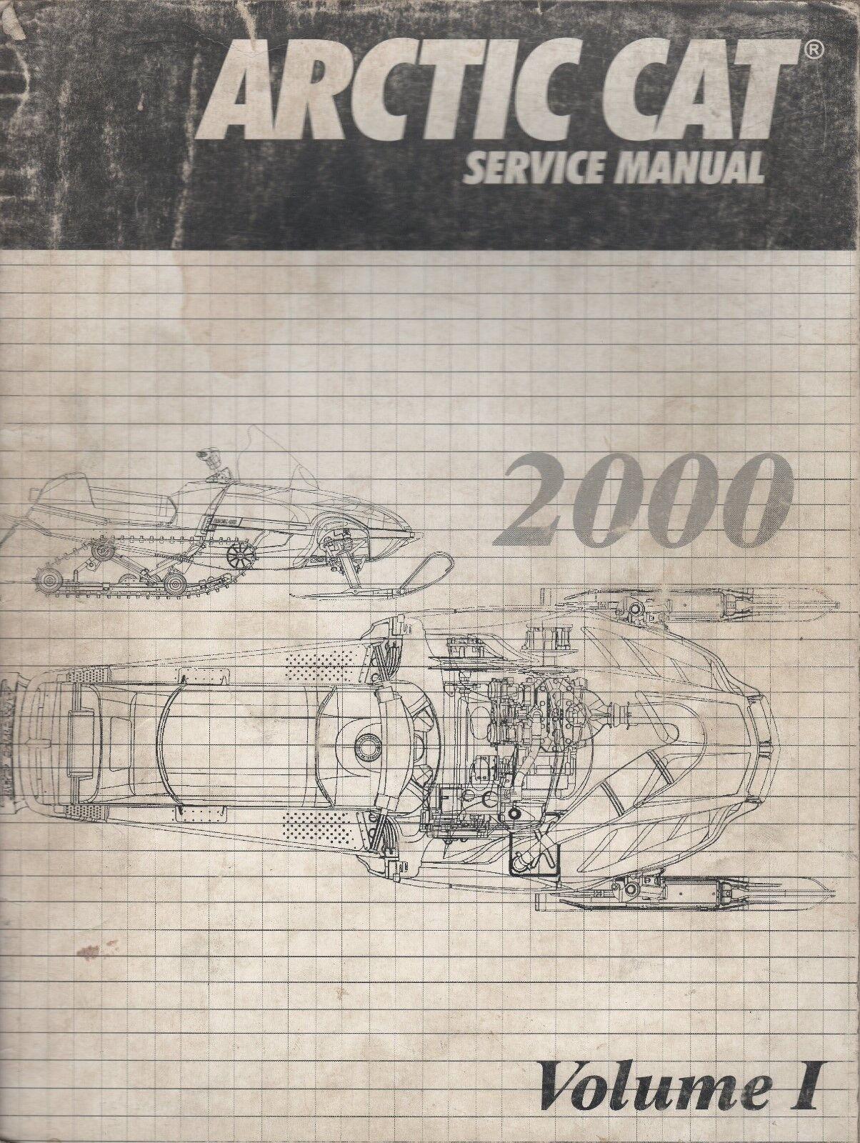 2000 ARCTIC CAT SNOWMOBILE SERVICE MANUAL VOLUME I  P N 2256-248  (362)