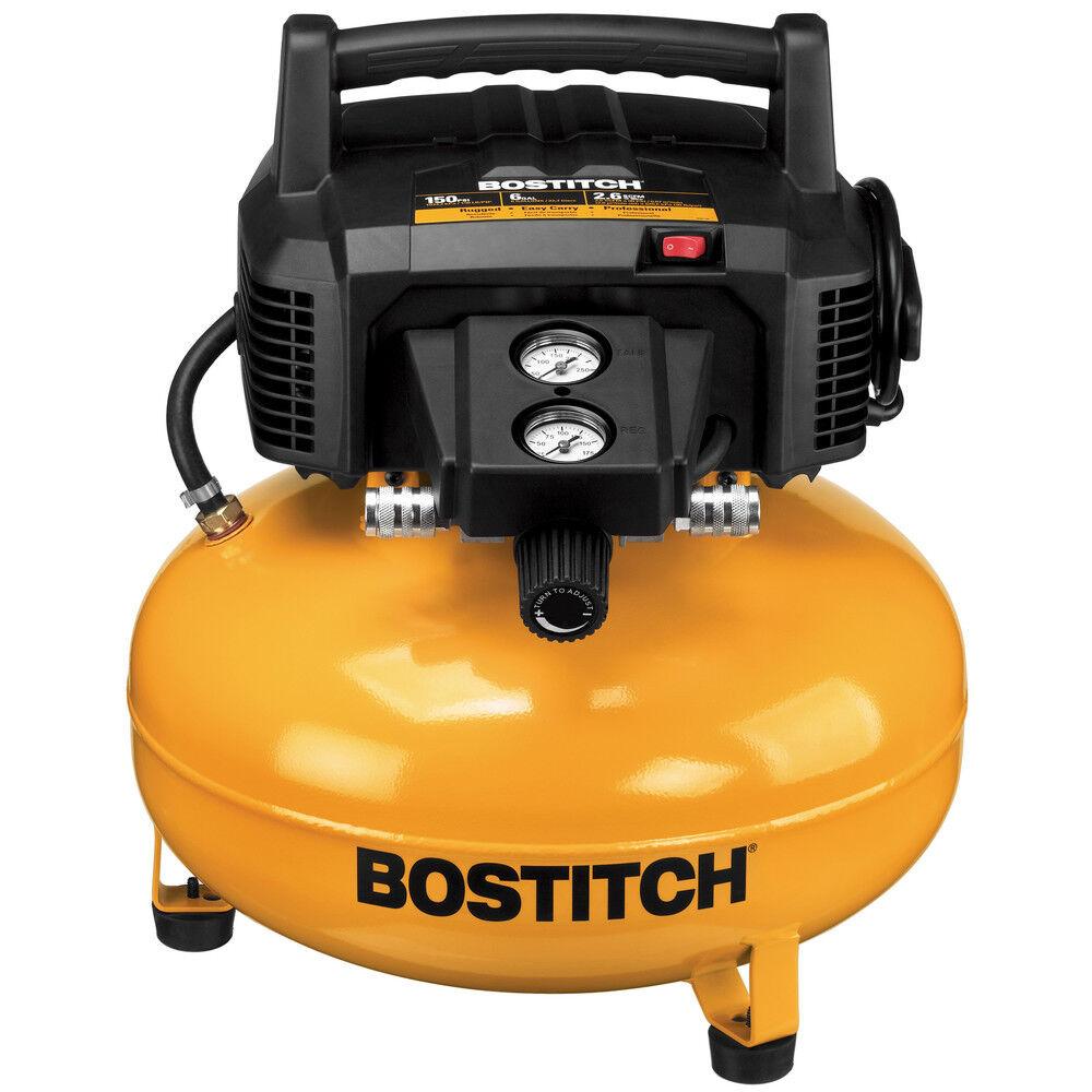 BTFP02012 cpo-outlets Bostitch BTFP02012 6 Gallon Oil-Free Pancake Air Compressor New