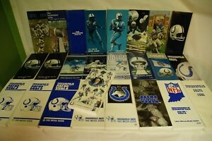 RARE-LOT-BY-NFL-BALTIMORE-COLTS-25-MEDIA-GUIDE-PROGRAM-PRESS-BOOK-FOOTBALL