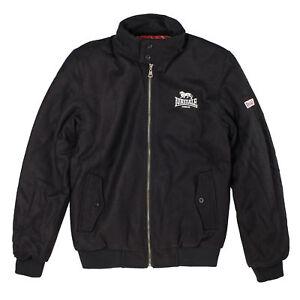 uomo Black S Xl 3xl Nuovo Front Logo M L Logo da Melton Giacca Xxl Lonsdale BWEqSS