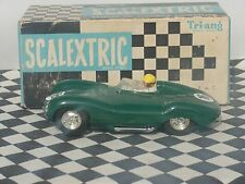Scalextric tipo D Jaguar Verde #16 C60 década de 1960 1.32 Usado En Caja