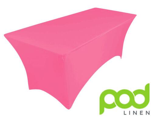 pied de table 180X75X75 environ 1.83 m Pink Spandex Lycra Stretch Housse Nappe pour 6 ft
