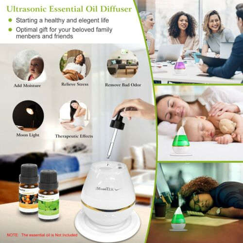 7LED Ultrasonic Humidifier Cool Air Diffuser Purifier Home Office Room Portable
