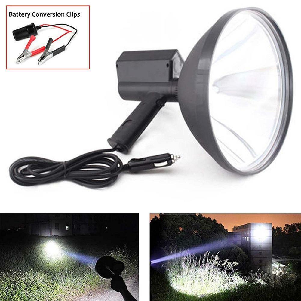 100W HID Handheld LED Car Camping Spot Light Spotlight Hunting Fishing OffRoad H