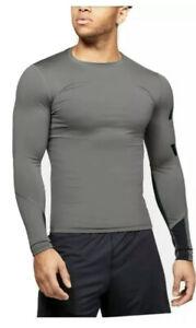 Under-Armour-HeatGear-Compression-Men-039-s-Long-Sleeve-Shirt-Size-2XL-XXL-New-M115