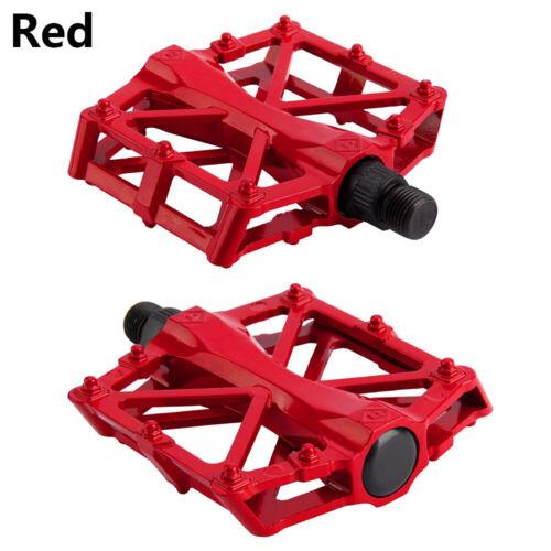 "1 Pair Mountain Bike Pedals Aluminum Alloy 9//16/"" Flat Platform Sealed Bearings"