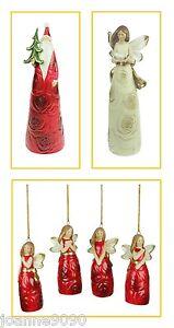 GISELA-GRAHAM-VINTAGE-CERAMIC-ROSE-CHRISTMAS-FIGURINE-ORNAMENT-TREE-DECORATIONS