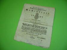 509KS1 Alte Zeitung: Großherzoglich Mecklenburg - Schwerinsches Wochenblatt 1827
