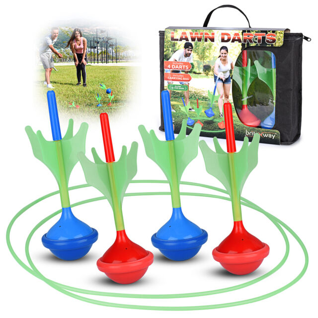Glow In The Dark Lawn Darts For Kids & Adults – Set Of 4 Outdoor Yard Darts