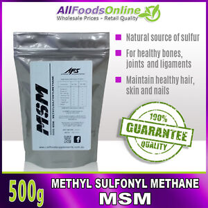 MSM-Methyl-Sulfonyl-Methane-Bone-Joint-and-Ligament-Support-Pure-500g