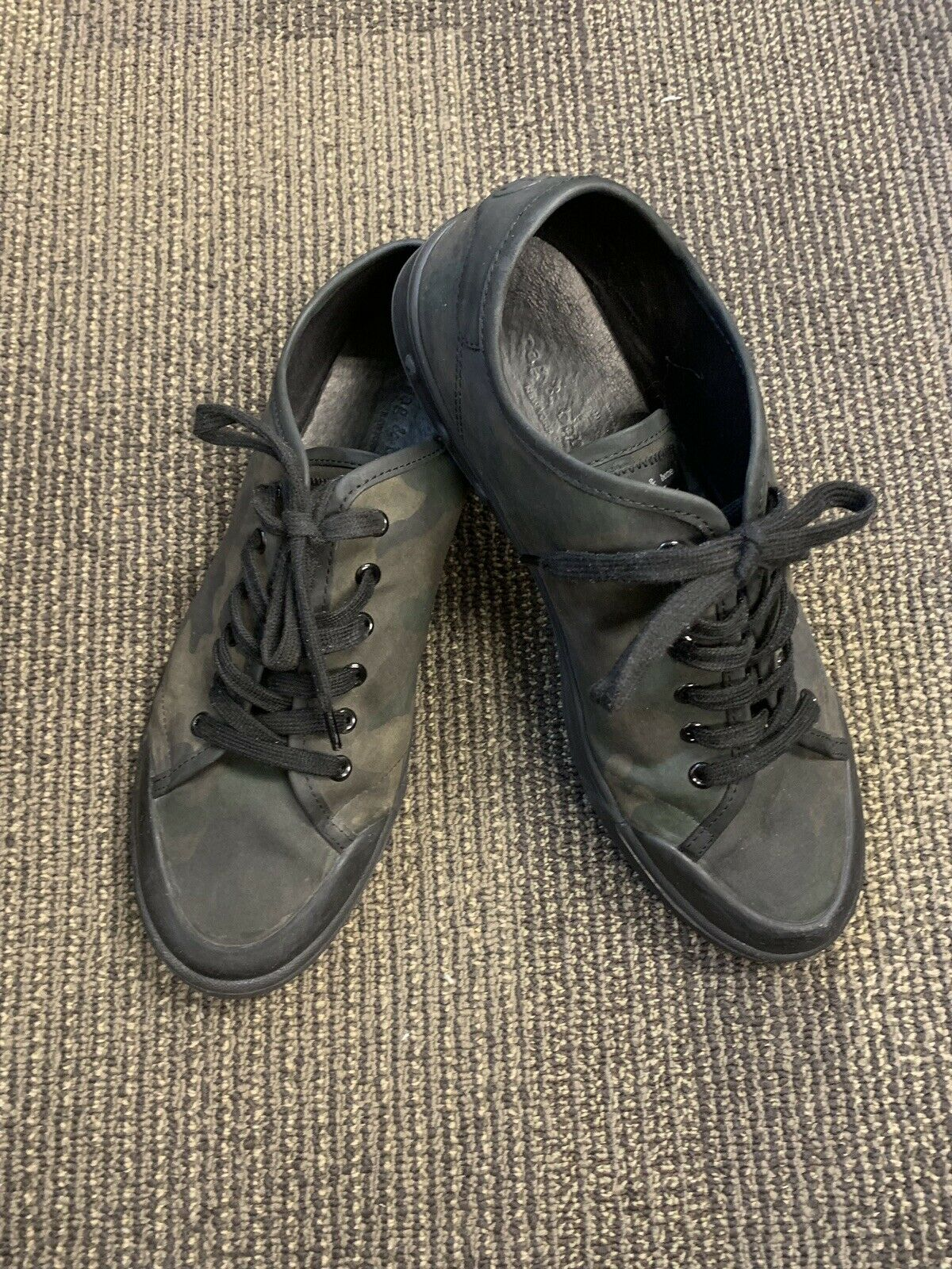 RAG & BONE STANDARD ISSUE CAMO Printed Canvas sneakers 44.5 (US 11.5) Pre-owned