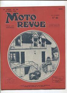 Moto Revue N°790 ; 29 Avril 1938 : Les Joints Moto