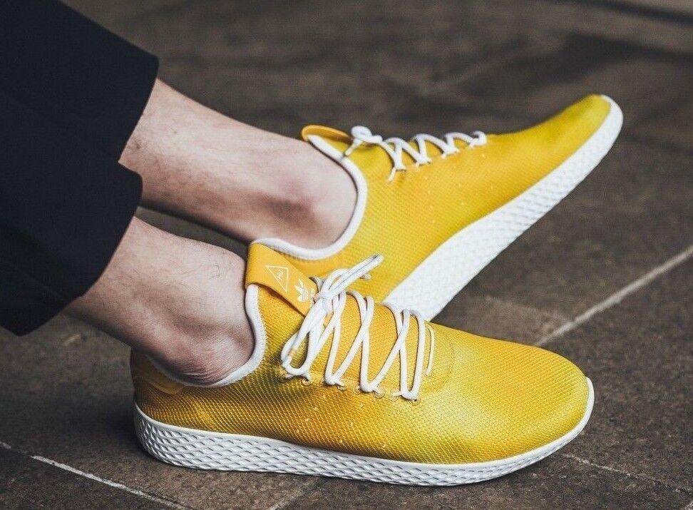 New ADIDAS Originals Pharrell Williams Tennis HU Sneaker Mens yellow all sizes