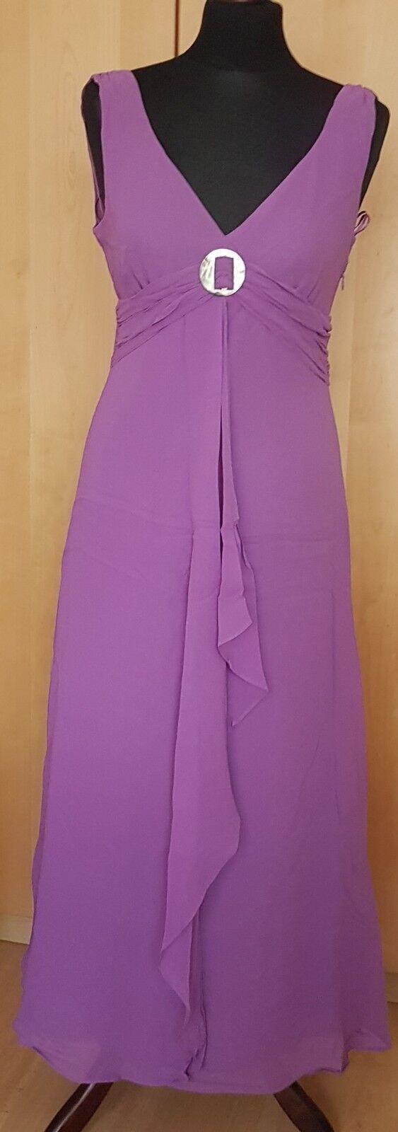 BNWT Kaliko 100% soie violets lavande nacre Cascade Robe UK 10