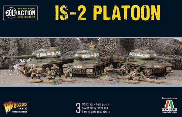 Warlord Games Soviet IS-2 Heavy CARRI ARMATI PLATOON 28mm Bullone AZIONE+