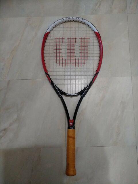 Wilson Roger Federer Titanium Tennis Racket 4 3 8 Grip For Sale Online Ebay