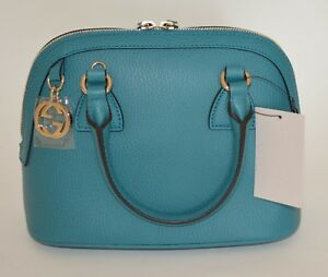 88852e7c Image is loading GUCCI-DOME-LEATHER-BAG-CROSSBODY-GG-CHARM-PURSE-