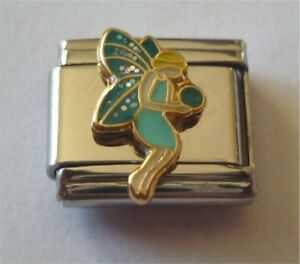 9mm-Italian-Charms-E74-Green-Fairy-Angel-Fits-Classic-Size-Bracelet
