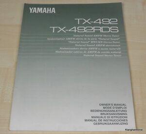 Yamaha TX-492 / TX-492RDS Bedienungsanleitung (mehrsprachig, auch in Deutsch)