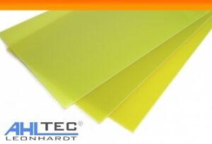 GFK Platten 0,5 - 4,0 mm / G10 FR4 gelb Glasfaser Platte 500 x 300 mm