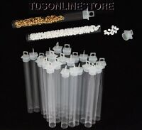 Package Of 100 Round Clear Plastic Storage Tubes 5 Tall