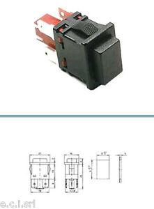 34.43950 INTERRUTTORE A PULSANTE TASTO NERO 250Vac 16A CON FASTON 4,8mm
