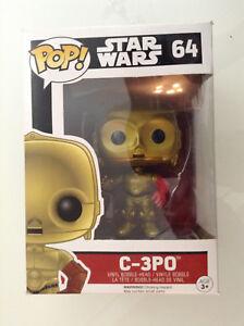 Star Wars The Force Awakens C-3PO Chrome Pop Vinyl BobbleHead Figure Funko