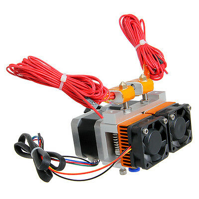 Geeetech Latest MK8 Dual Extruder With Cool Fan for 3D Printer Makerbot,Prusa