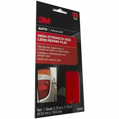 "3M 03341 Red 3.75/"" x 7.75/"" High Strength Tail Light Lens Repair Film"