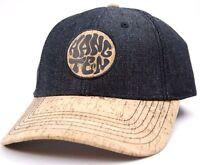 Hang Ten Gold Balboa Cork Billed Strap Back Cap/hat Black / Cork