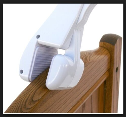 Crib Mobile Attachment Arm Clamps to Crib for Baby in White