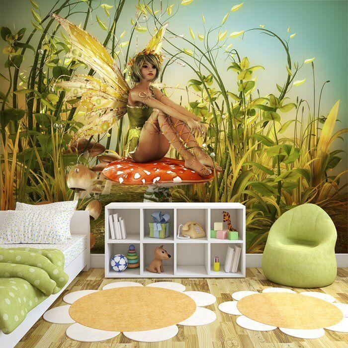 Grüne Fee Fototapete Woodland Fantasy Tapete Mädchen Schlafzimmer Wohnkultur
