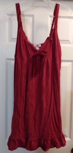 Maidenform Lingerie Red Knit Babydoll Chemise Set