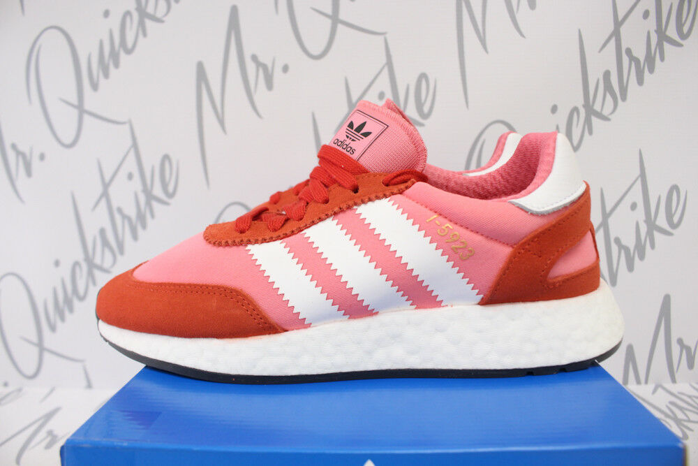 WOMENS ADIDAS I-5923 SZ 10 INIKI RUNNER CHALK PINK CLOUD WHITE RED CQ2527