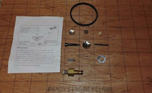 632347 Craftsman 8 /& 10 HP Snow Carburetor Overhaul Rebuild Kit