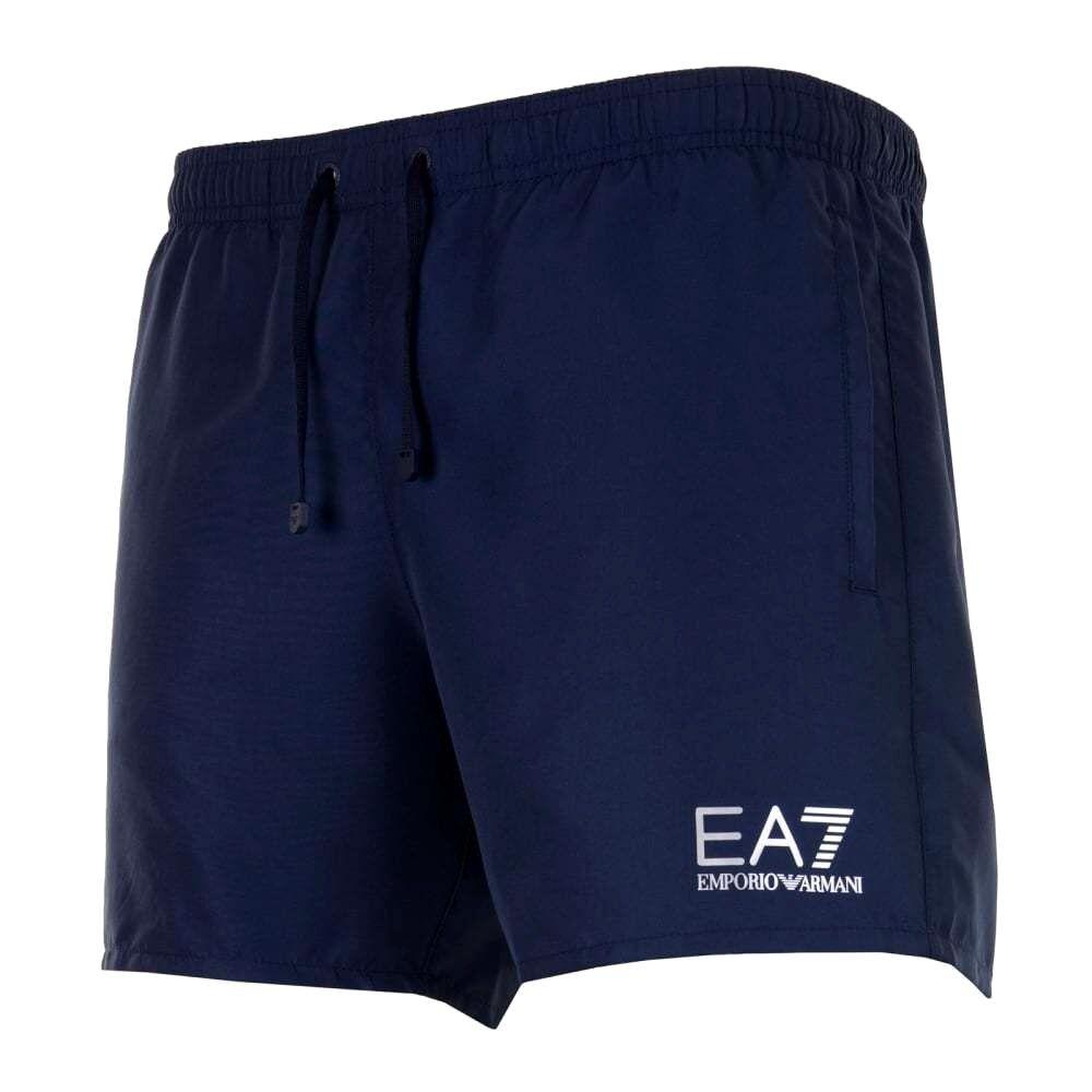 8dbe0bab20ee0 EA7 Armani Emporio Armani EA7 Homme Sea World Swim Shorts-Bleu Marine 00b37d