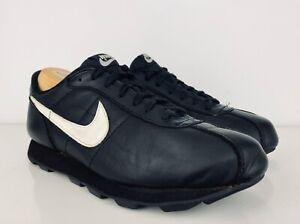 Rara Vintage 1992 Nike Cortez Negro Cuero Zapatos Zapatillas ...