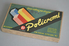 (PRL) GESSI INTENSI DISEGNO POLICROMI TINTE SOLIDE ANNI '60 FIM COLLECTOR CRAIE