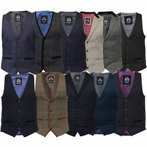 d83de5a3389b Image is loading Mens-Waistcoat-Marc-Darcy-Vest-Formal-Herringbone-Tweed-
