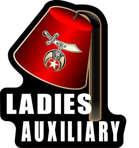 One Masonic Shriner Ladies Auxiliary Freemason Fez Decal Sticker ProSticker 112V