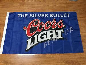 Coors-Light-Silver-Bullet-Banner-Flag-3x5-Feet