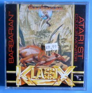 """Prix Pas Cher Adventure Game """"barbarian"""" (psygnosis, Sous Licence Pour Klassix) Pour Atari St-afficher Le Titre D'origine à Vendre"""