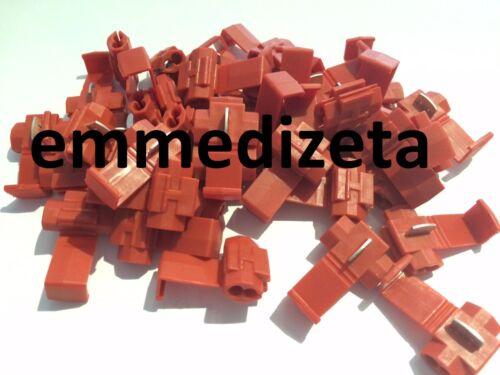RUBACORRENTE Rosso Derivazione a T Serra cavo 50 pezzi