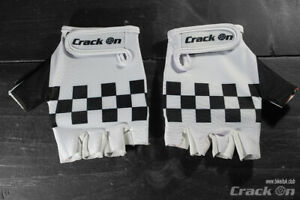 Retro Peugeot Checker Road Cycling Team Half Finger Mitts Gloves
