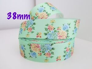 Gorgeous-Floral-Grosgrain-Ribbon-Hair-Clips-Cake-Craft-Hair-Bow-By-Meter-38mm